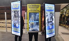 Popman en activaciones publicitarias para marca de cerveza Aguila