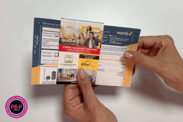 Los inserto de facturas son un recurso publicitario que garantiza llegar a un público más grande.
