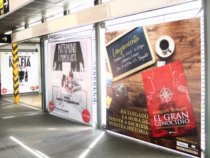 Lanzamientos publicitados en bastidores de estaciones