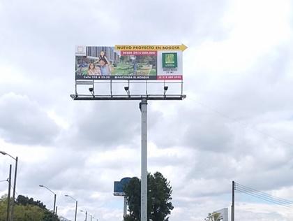 Pauta en vallas publicitarias de diferentes lugares del país