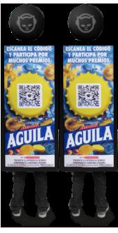 Ejemplo de popman con banner realizado para Aguila