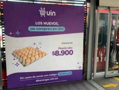 Publicidad en bastidores para incentivar compras online de huevos