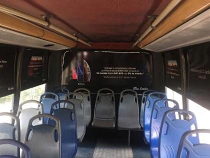 Lleva tu marca a la publicidad en ventanas de buses urbanos