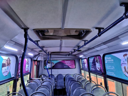 interior de buses urbanos brandeados con tu marca a nivel nacional