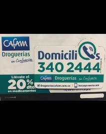 Publicidad para domicilios de Cafam droguerías por PyP Medios