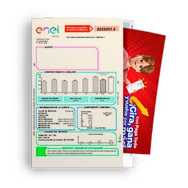 Cuponera publicitaria en facturas de Enel - Codensa
