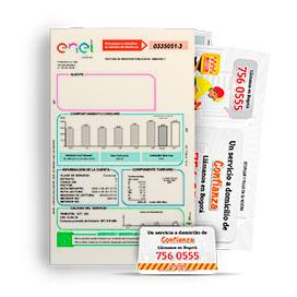 Publicidad en volantes con imán insertos en Facturas de Enel - Codensa
