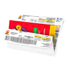 Publicidad inserta en facturas con formatos de volantes de PyP Medios