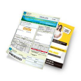 Formato para pauta de volante en factura abierta de EMSA